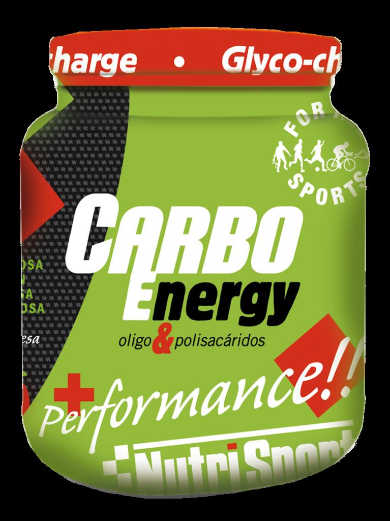 Bote carboenergy de Nutrisport ideal como producto previo a la natación open water. Nutrición indispensable pre-competición