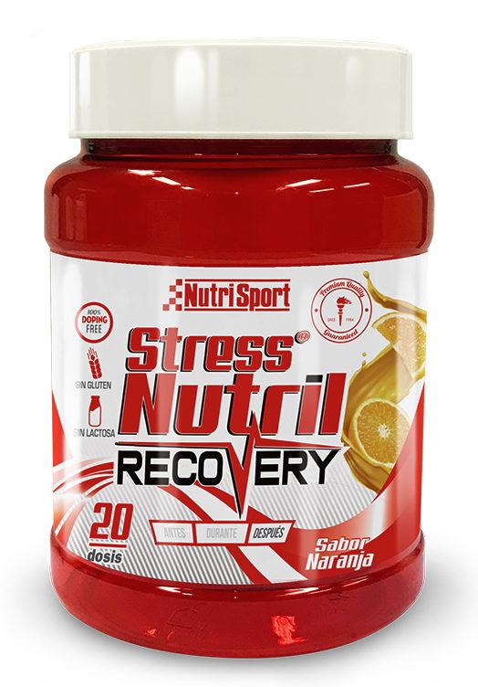 Bote Stressnutril de Nutrisport ideal como producto recuperador a la natación open water. Nutrición indispensable post-competición.