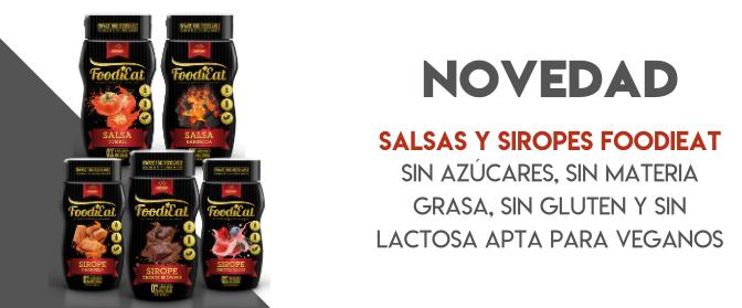 Nuevas salsas y siropes foodieat NutriSport